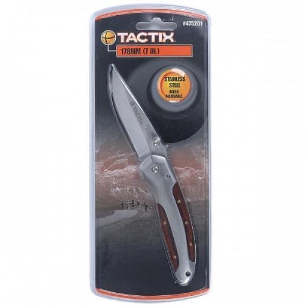 Tactix - Σουγιάς Γενικής Χρήσης Inox Ασημί με Μεταλλική - Ξύλινη Λαβή #475201